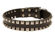 #German #Shepherd #Leather #Collar with #Shiny #Nickel #Plates Starting at: $39.90