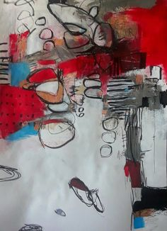 Abstract Art, My Arts, House Design, Scarlet, Toronto, Mixed Media, Painting, Color, Colour