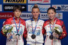 Il podio mondiale di Kazan 2015: il sogno è diventato realtà.