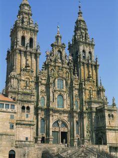 Cathedral of Santiago De Compostela, UNESCO World Heritage Site, Galicia, Spain, Europe