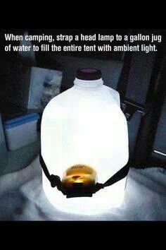 Ambient Lighting from a gallon milk jug