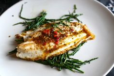 Pan Fried Lemon Sole with Samphire and Parsley Butter
