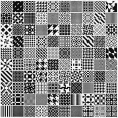Monochrome Geometric Patterns by MartinIsaac Geometric Patterns, Monochrome Pattern, Geometric Graphic, Geometric Designs, White Patterns, Textile Patterns, Print Patterns, Mosaic Patterns, Design Patterns