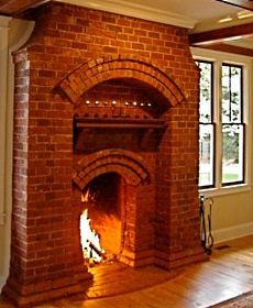 designs in brick fireplaces   ... brick fireplaces feature superb detailing. Note how the brick