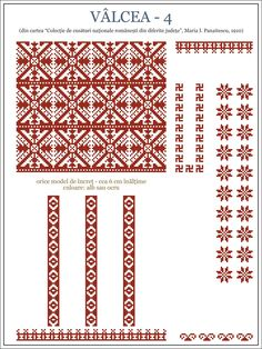 Folk Embroidery, Learn Embroidery, Embroidery Patterns, Machine Embroidery, Knitting Patterns, Cross Stitch Borders, Cross Stitch Designs, Cross Stitching, Folklore