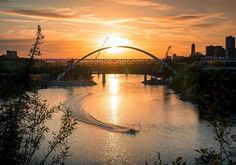 The new low level bridge framing the historic High Level Bridge in Edmonton, AB, Canada. Western Canada, The Province, Alberta Canada, Capital City, Great Places, Sunrise, Abs, Explore, Instagram Posts