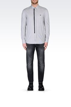 ХЛОПКОВАЯ РУБАШКА: Рубашки с длинными рукавами Для Мужчин by Armani - 0