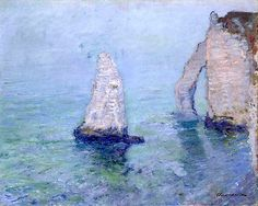 L'Aiguille et la Porte d'Aval - Claude Monet