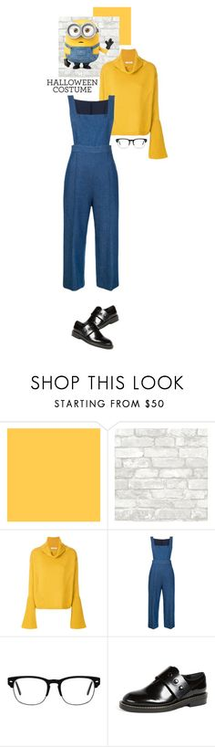"""""""Last Minute Custome : Minion"""" by puspitantri ❤ liked on Polyvore featuring Dorothee Schumacher, macgraw and Marni"""