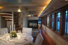 Consider a private romantic dinner on a yacht on this Valentine's Day.