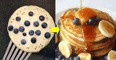 Blueberry, Red Velvet, Nutella and Cinnamon Roll Pancakes - 9GAG