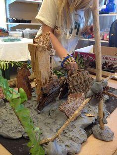 Collaborative Clay and natural materials sculpture