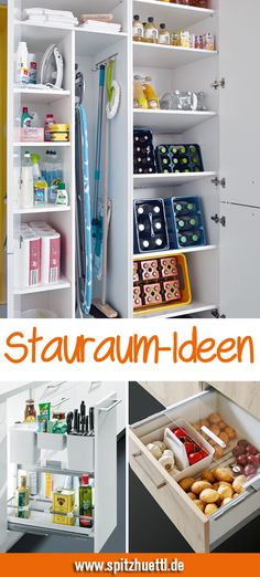 In der Küche kann man nie genug Stauraum haben. You can never have enough storage space in the kitchen. We show you simple ideas with which you can easily keep order and create space. Small Room Bedroom, Small Rooms, Small Spaces, Kitchen Furniture, Diy Furniture, Kitchen Decor, Kitchen Ideas, Furniture Storage, Ikea Kitchen