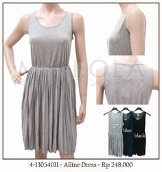 #MINEOLA Alline dress grey. Also available in blue and black color. Rp.248.000,- Bust: 82cm - Length: 57cm  Fabrics: cotton Product code: 4-13054011