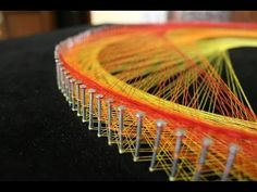 The Vortex String Art (video tutorial) | String Art DIY | Free patterns and templates to make your own String Art