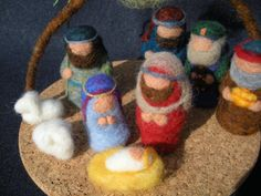 This miniature Christmas Nativity Scene includes Mary, Joseph, Baby Jesus in the manger, one Shepherd, two sheep, three Wisemen, and the Star-- 10