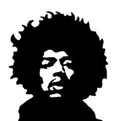 STENCILRY is a huge collection of free stencils and tutorials. Face Stencils, Stencil Art, Stencil Graffiti, Stenciling, Jimi Hendrix Poster, Jimi Hendricks, White Art, Black And White, 3d Templates