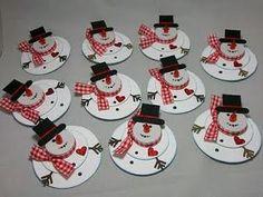 Aspettando Natale: snow man di carta!