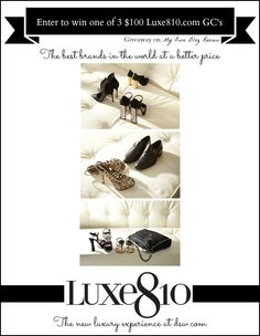 Enter to win one of 3 $100 Luxe810 at DSW.com Gift Cards from My Own Blog Review