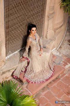 Bridal Wear & Wedding Party Dresses Raeesah & Gold Collection By Adnan Khan
