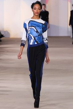 Preen by Thornton Bregazzi Fall 2012 Ready-to-Wear Fashion Show - Jourdan Dunn