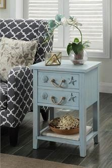 An oceanic blue hue lets you embrace a coastal aesthetic with the Coast to Coast Breakers Rectangle End Table . Lane Furniture, Accent Furniture, Furniture Deals, Nautical Theme Decor, Nautical Home, Blue Bathtub, Night And Day Furniture, Atlantic Furniture, Moe's Home Collection