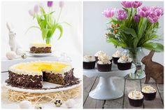 Der Klassiker an Oster: Eierlikörtorte einmal klassisch, einmal als Cupcake! Happy Easter!