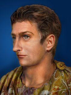 Facial reconstruction of Roman Emperor Tiberius Caesar (42 BC - 37 AD)