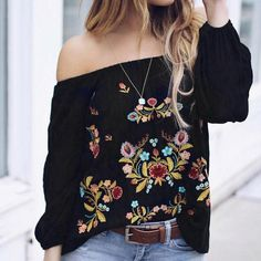 Considerate Hdy Haoduoyi Brand Women Black Sweet Shirts Cold Shoulder Butterfly Sleeve Zipper Buttons Female Casual Blouses Sexy Shirts Lady Women's Clothing