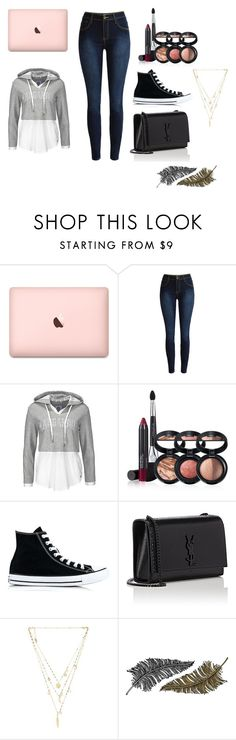 """what i found in search"" by jasmine-raper ❤ liked on Polyvore featuring Laura Geller, Converse, Yves Saint Laurent, Ettika and Paperself"