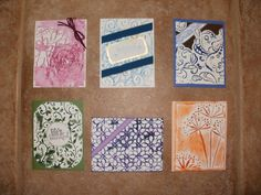 Embossed encaustic cards and then waxed