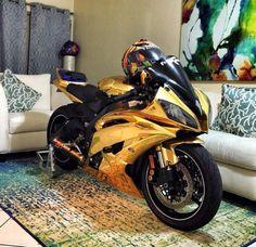 Gold R6 Yamaha
