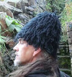 Thrum cap replica by Sally Pointer, available to order and as a knitting pattern.