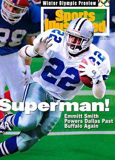 Emmitt Smith - Super Bowl XXVIII MVP as the Cowboys defeat the Buffalo Bills (again). Dallas Cowboys Decor, Dallas Cowboys Football, Football Stuff, Dallas Sports, Bills Football, College Football, Cowboys Players, Football Players, Football Helmets