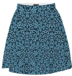 Floral Damask Pattern Blue Black Mix - A lovely floral damask fabric print in a fabulous shade of blue and black, such a classy stylish look. #fashion #blue #shirts #paom