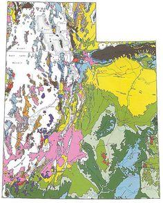 Geologic Maps of the 50 United States: Utah Geologic Map
