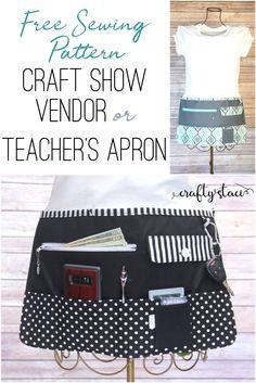 Craft Show Vendor or Teacher's Apron from craftystaci.com #craftshow #freesewingpattern
