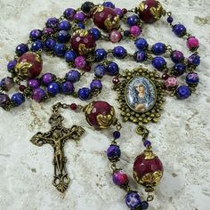 Longevity,Health,Vitality,Happiness Gemstone Rosary at www.blessandhealme.etsy.com