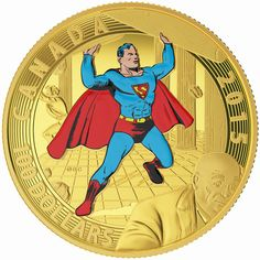 14 Karat Gold Coin: 2015 $100 14-Karat Gold Coin – Iconic Superman TM Comic Book Covers: Superman 1940, Check Details...!!!