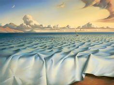 Vladimir Kush Ripples on the ocean painting is shipped worldwide,including stretched canvas and framed art.This Vladimir Kush Ripples on the ocean painting is available at custom size. Vladimir Kush, L'art Salvador Dali, Salvador Dali Paintings, Figueras, The Ocean, Ocean Ocean, Photos Rares, Surreal Artwork, Surrealism Painting