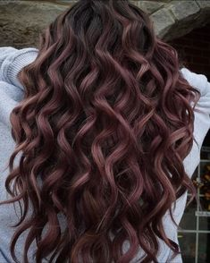 Chocolate Rose Color is a Creative Take on Brown - Color - Modern Salon Dyed Curly Hair, Brown Curly Hair, Colored Curly Hair, Curly Hair Styles, Color For Curly Hair, Rose Hair Color, Cherry Hair Colors, Hair Dye Colors, Hair Colors For Fall