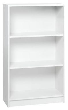 Bookcase HORSENS 3 shelves wide white   JYSK