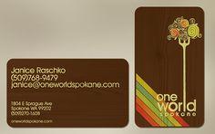 One World Spokane business cards