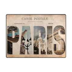 Vintage French Paris Eiffel Tower Basilica of the Sacred Heart Arc De Triomphe Poster Letters Area Rug Pad NonSlip Kitchen Floor Mat for Living Room Bedroom 5 x 7 Door Mat Home Decor >>> See this great product. (This is an affiliate link)