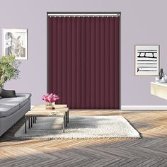 Controliss Liso Mulberry 240V AC mains RTS remote control electric vertical blind. #blind #blinds #ElectricVerticalBlind #ControlissBlinds