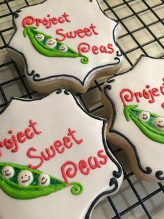Project sweet peas custom cookies