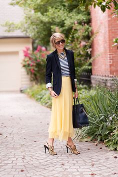Stripes, yellow, and leopard - 3 of my favorite things