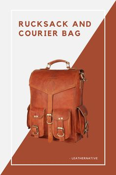 This Leather 2-in-1 Rucksack and Courier Bag is for people who are self-aware in a unique fashion taste. Small Leather Bag, Leather Purses, Brown Backpacks, Leather Bags Handmade, Unique Fashion, 5 D, Traveling By Yourself, People, Leather Handbags