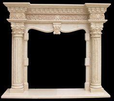 Grand Richmond Column Marble Fireplace Mantel
