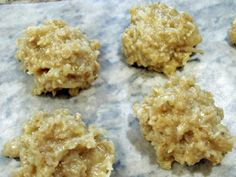 Be still my beating heart- a synthesis of my two favorite things.  Coconut Oatmeal No Bake Cookies